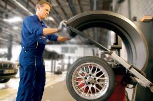 Auswuchten von Reifen